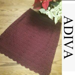 size 10 Adiva lace burgundy midi Straight skirt